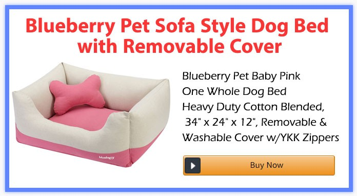 Blueberry Pet Sofa Style Dog Bed with Removable Cover