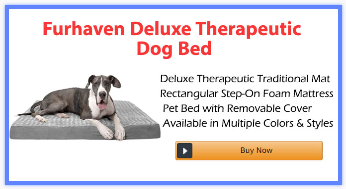 Furhaven Deluxe Therapeutic Dog Bed
